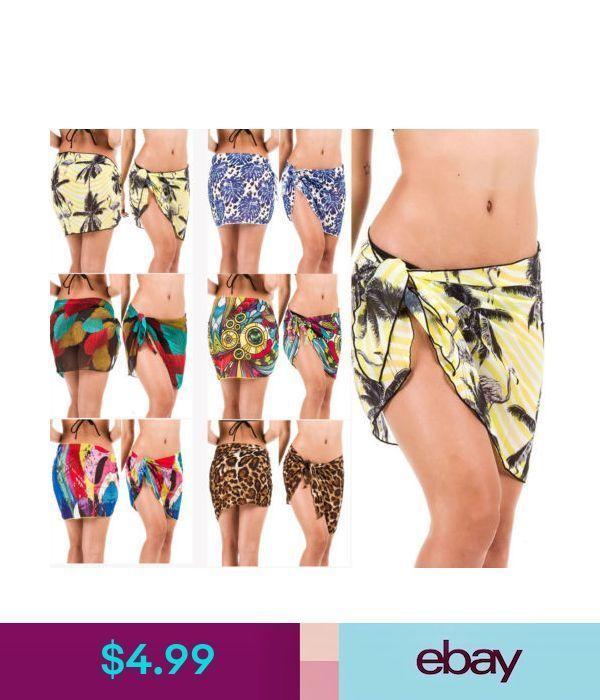 Badebekleidung Frauen Strand vertuschen Sarong Wrap Pareo Rock Minikleid Bikini Badeanzug   – style