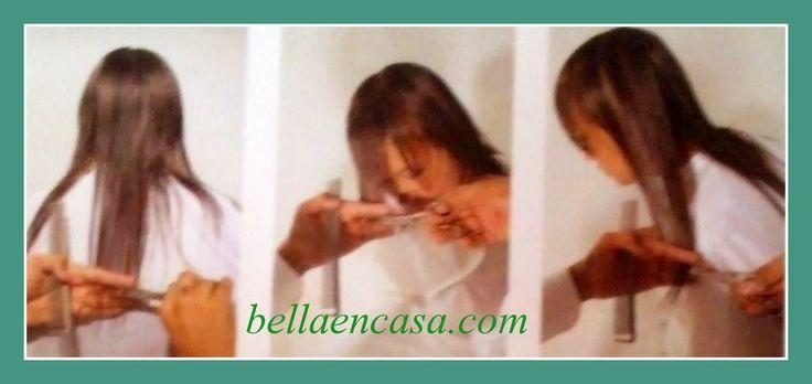 CORTE DE PELO A 180 Grados PASO A PASO!! ~ Bella en Casa.com