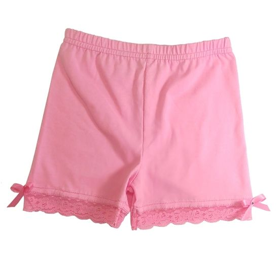 Undershorts, modesty shorts or playground shorts The cutest girl bloomer shorts.  They come in a variety of colors to mix and match and layer under dresses and skirts. Made in Canada. On sale now for $11.66 USD ($12.50 CAD)