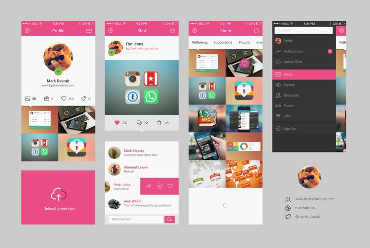 Dribbble - dribbble_app_concept_bigger.png by Mark / HipstaCowboys