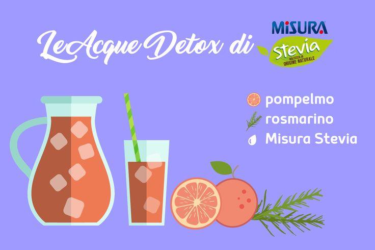 Seconda Acqua Detox: rosmarino, 1 pompelmo spremuto, 1 pompelmo a fette, Misura Stevia liquido.