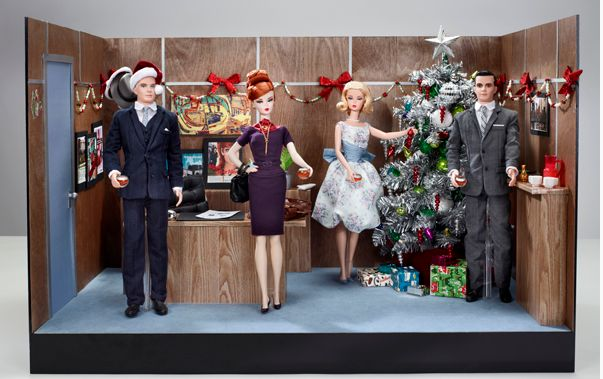 Barbie Loves the MAD MEN Office Holiday Party 4-Doll Display Set
