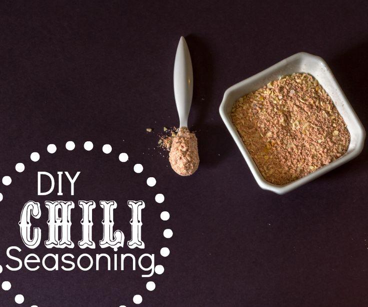 Homemade Chili Seasoning Mix minus sugar and flour