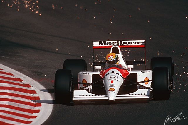 Ayrton Senna @ 1991 Belgium Grand Prix - Paul Henri Cahier