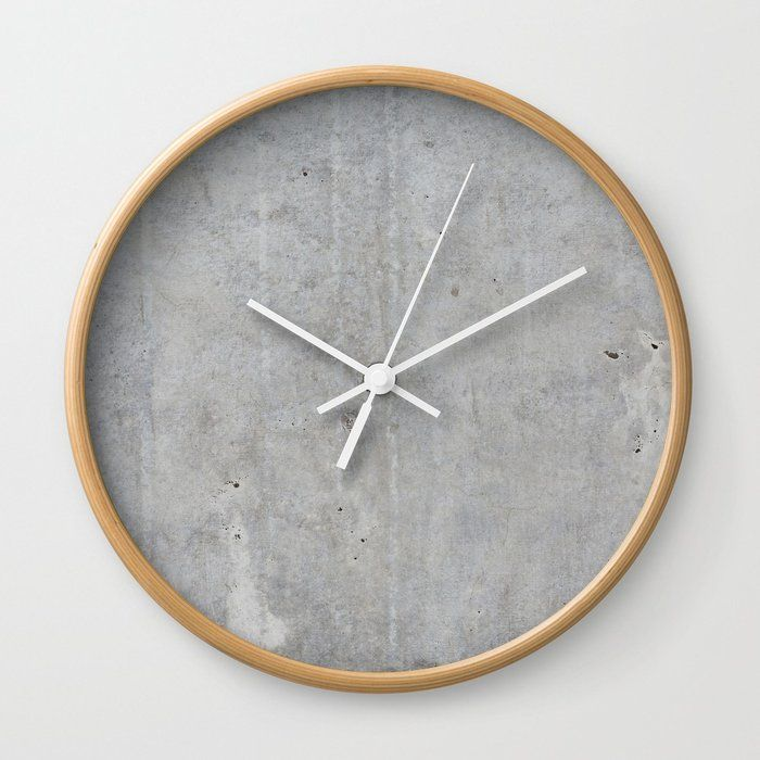 Buy Concrete Wall Texture Wall Clock By Patternmaker Worldwide Shipping Available At Society6 Com Concrete Wall Texture Decorative Concrete Walls Wall Clock