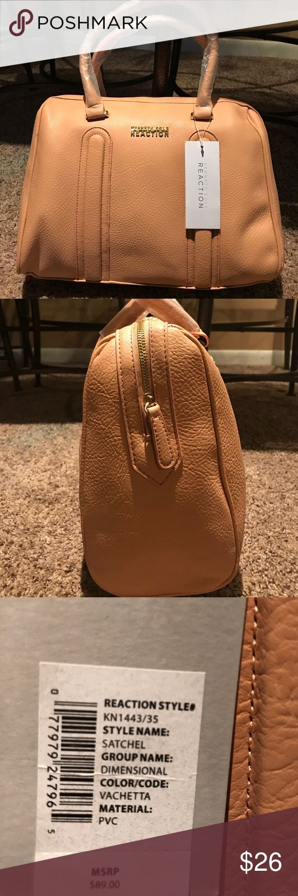 Kenneth Cole Satchel in a very pretty peach color Brand new very pretty purse - color code Vachetta  - material PVC Kenneth Cole Reaction Bags Satchels