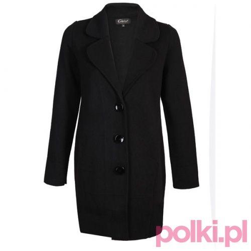 Czarny płaszcz Caterina #polkipl #plaszcz