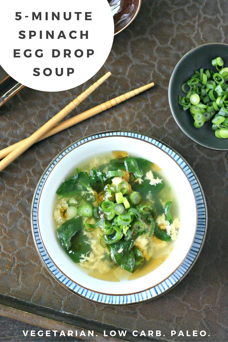 Quick Spinach Egg Drop Soup is a filling, nourishing meal you can make in almost no time at all. Heat broth, stir things, and you're pretty much done! This recipe is low-carb, paleo, and frugal.