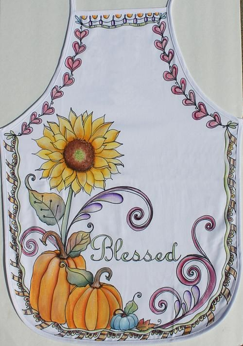 Create this project with SoSoft® Fabric Paint — An apron decorated with the images of fall makes a perfect accessory for autumn entertaining.