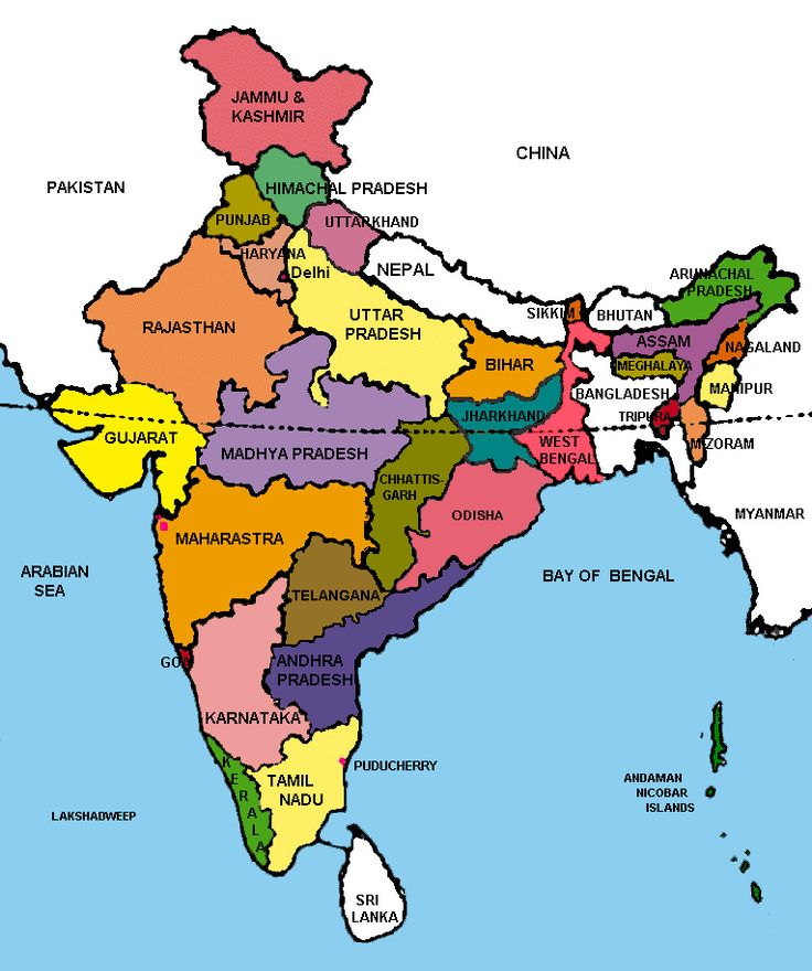 Map of India With States and Capitals http://hightidefestival.org ...