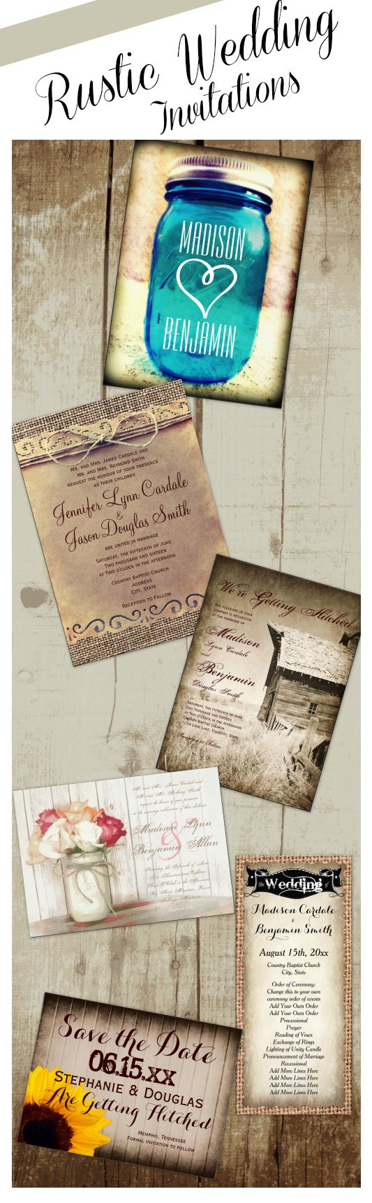 Best 25+ Rustic wedding invitations cheap ideas on Pinterest ...