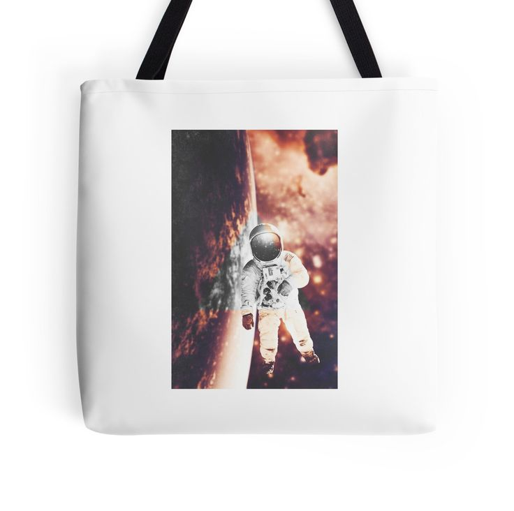 Floating in silence by nath-gary #Bag #Space #Nebula #Galaxy #Astronaut #Stars #Photomanip #Triangle #WarmColors #Dream #SciFi #Accsessories