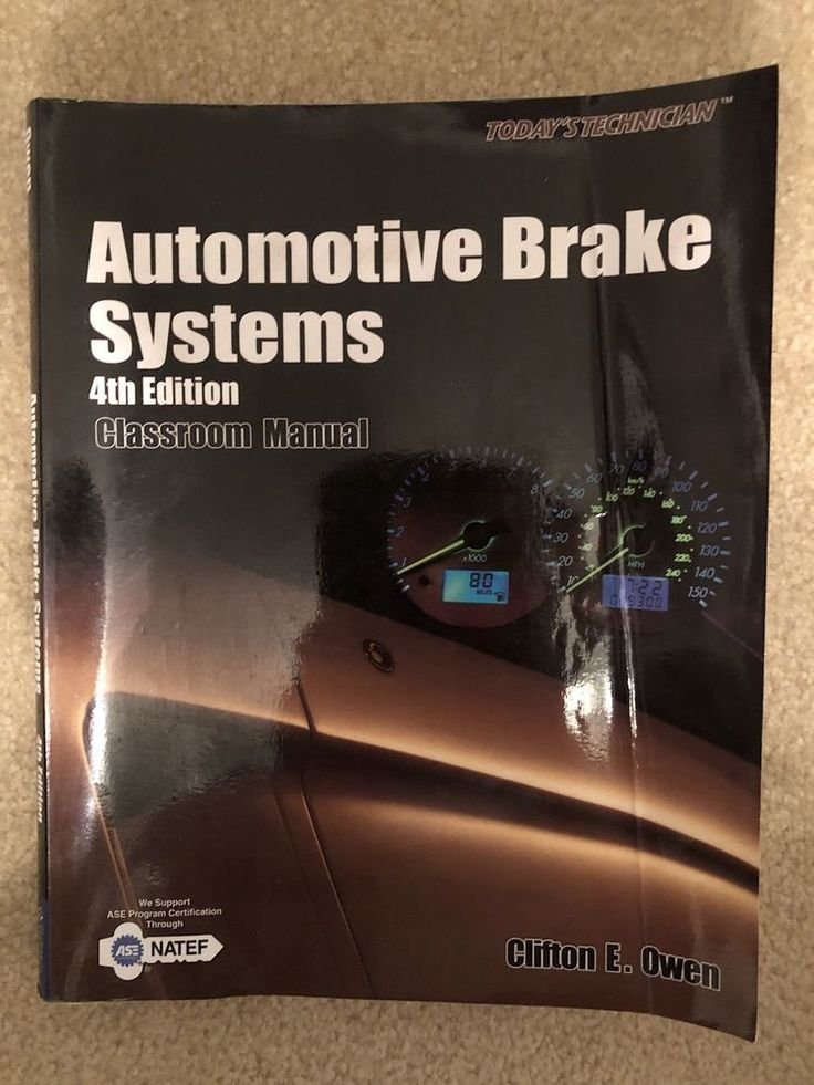 Automotive Brake Systems 4th Edition Classroom Manual  | eBay