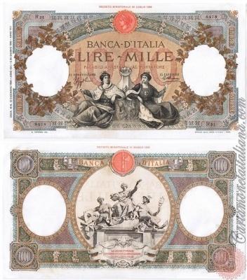 Cartamoneta Italiana .com - Museo Virtuale - : Banca d'Italia – Regno d'Italia - Foto: 1000 LIRE - Capranesi - Repubbliche marinare - N 32
