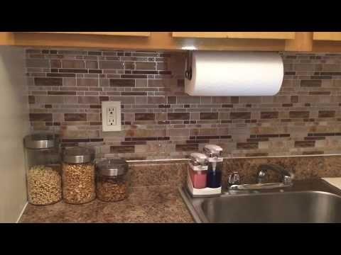 AuBergewohnlich Crystiles DIY Peel U0026 Stick Backsplash For Kitchen And  Bathroom YouTube