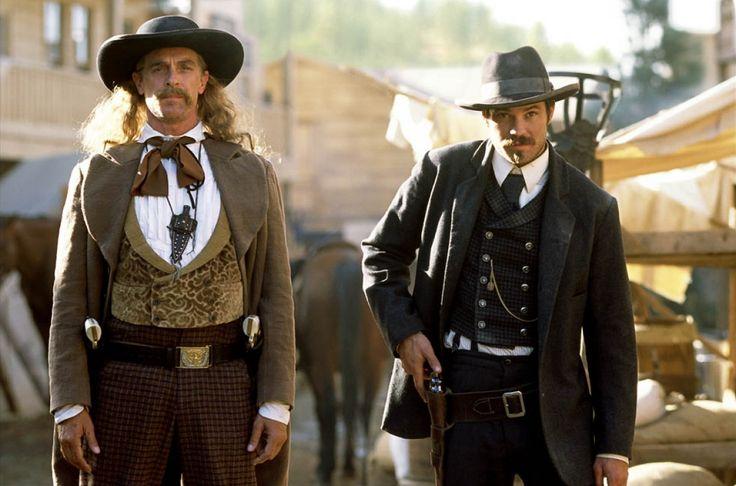 Keith Carradine & Timothy Olyphant in Deadwood
