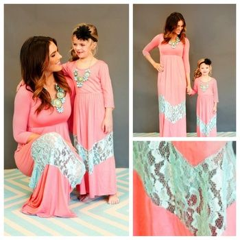 chevron lace maxi for mommy and me