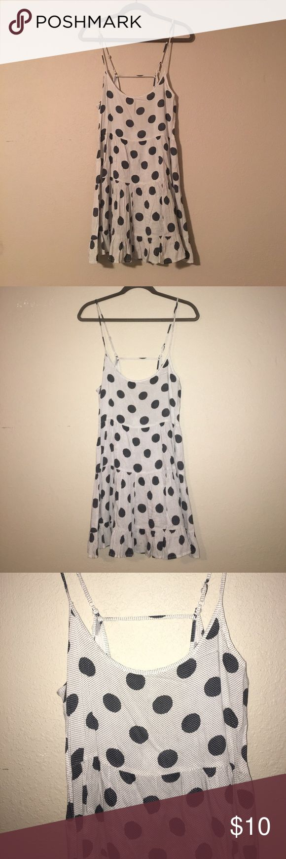 Polka Dot Nordstrom Dress Nordstrom BP polka dot dress that can be worn as a swing dress, tank, tunic, or slip. Adjustable straps. Light and flirty fun. Great for festival. Looks great with bralettes. bp Dresses Mini