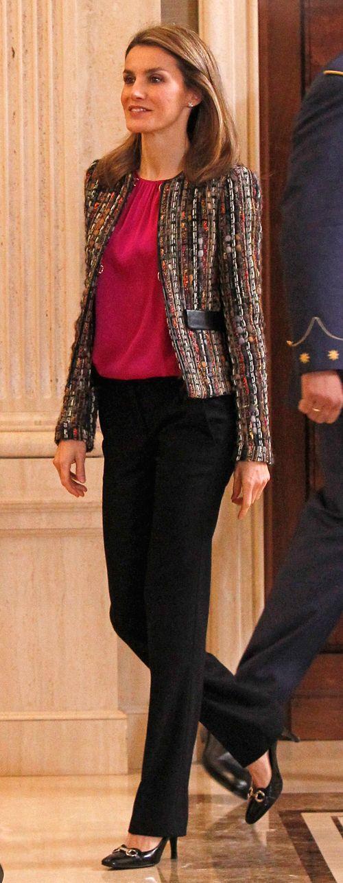 Princess Letizia of Asturias attends audiences at Zarzuela Palace 1/8/2014
