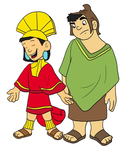 Kuzco and Pacha - The Emperor's New Groove