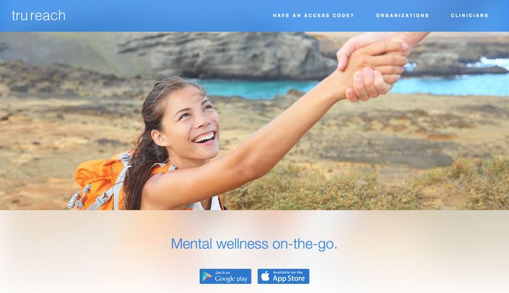 TruReach - iOS & Android - cognitive behavioural therapy lessons, well-structured thought journal