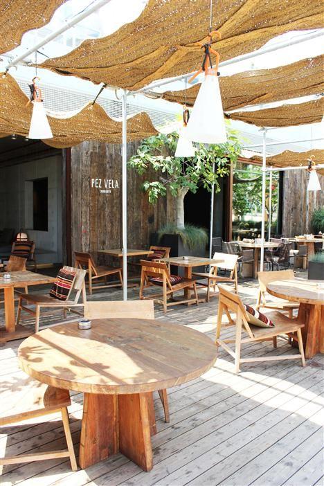 Beach style..Beach restaurant interior design inspiration byCOCOON.com #COCOON…
