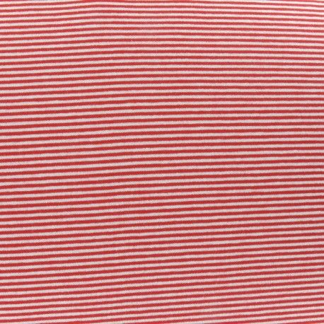 Tissu Jersey mini rayures V.2 rouge