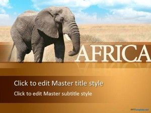 Free African Elephant PPT Template