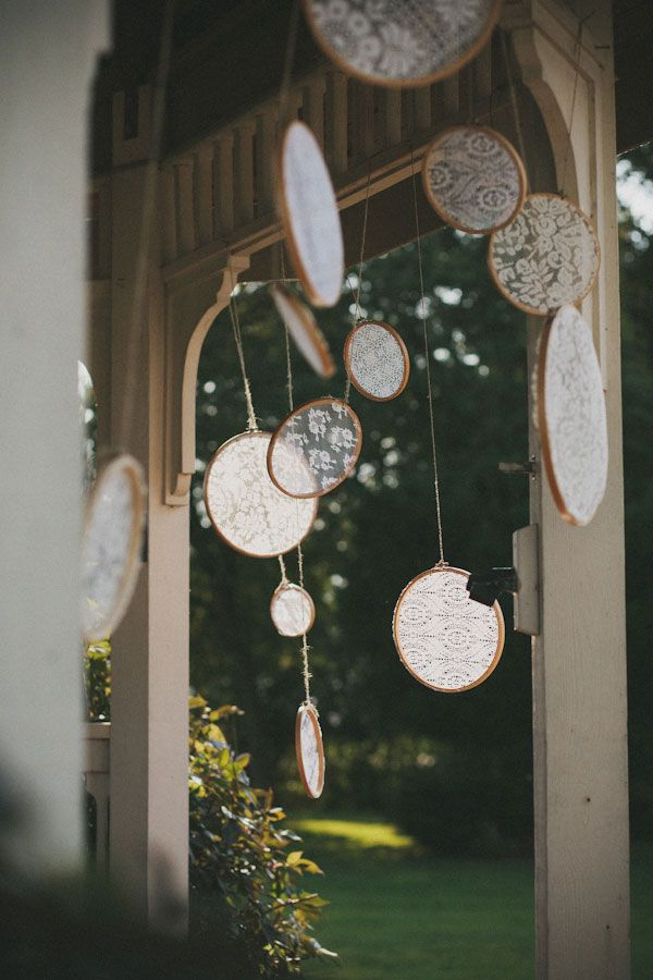 Swaying lace decor | A Bohemian Chic Canadian Wedding That Will Make Your Heart Swoon  http://storyboardwedding.com/a-bohemian-chic-canadian-wedding-that-will-make-your-heart-swoon/