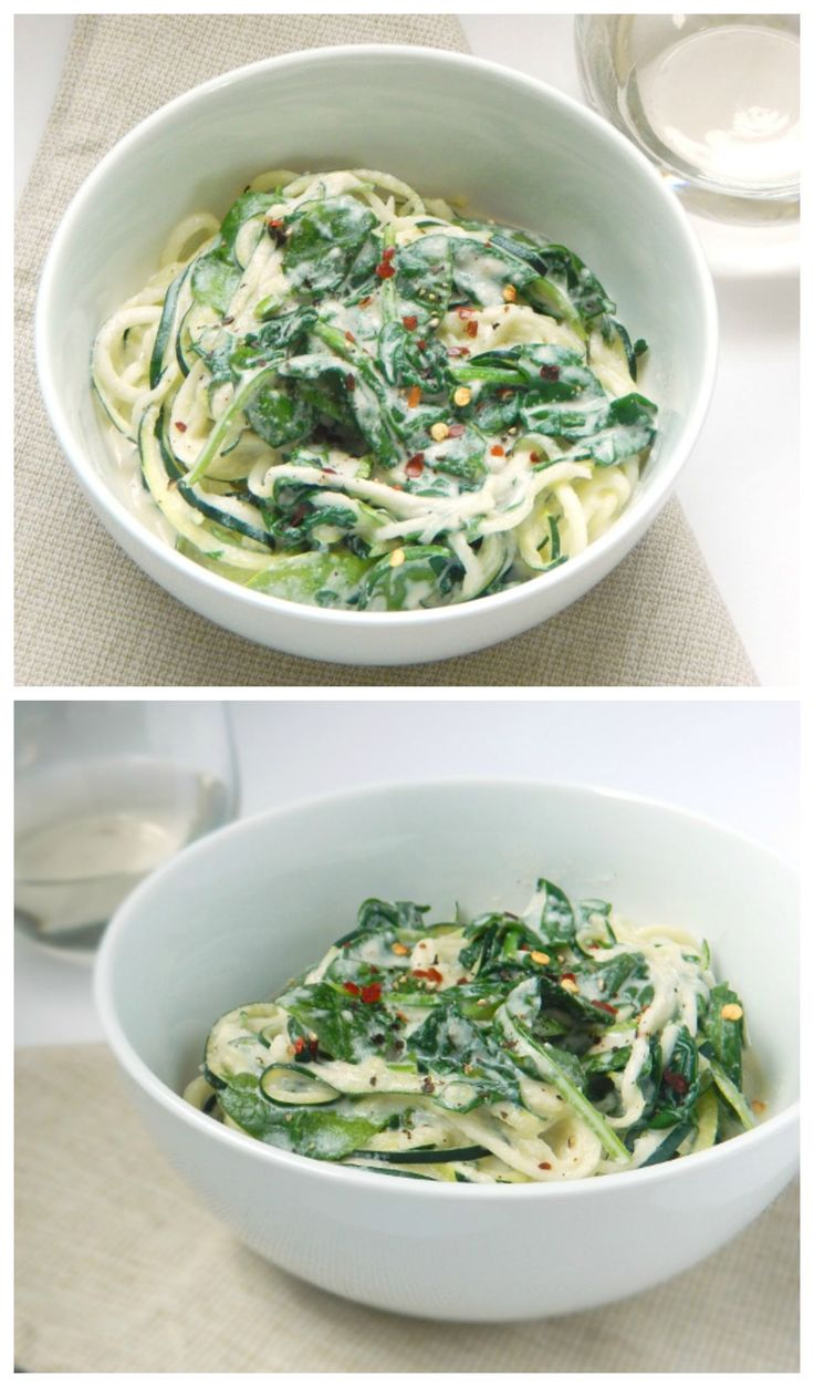 Zucchini Noodles with Lemon Garlic Cream Sauce. Dinner is just minutes away and with this recipe and no one will miss the dairy! You won't believe the secret ingredient!