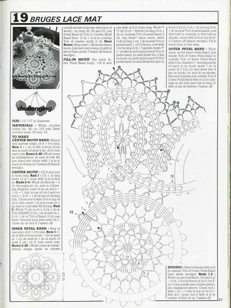 Artes by Cachopa - Croche & Trico: Centrinho redondo - Bruges lace mat