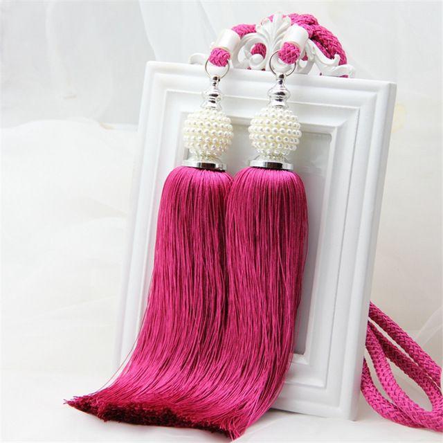 Vorhang Raffhalter Wohnkultur Perle Multicolor Doppel Hängende Kugel Vorhänge…