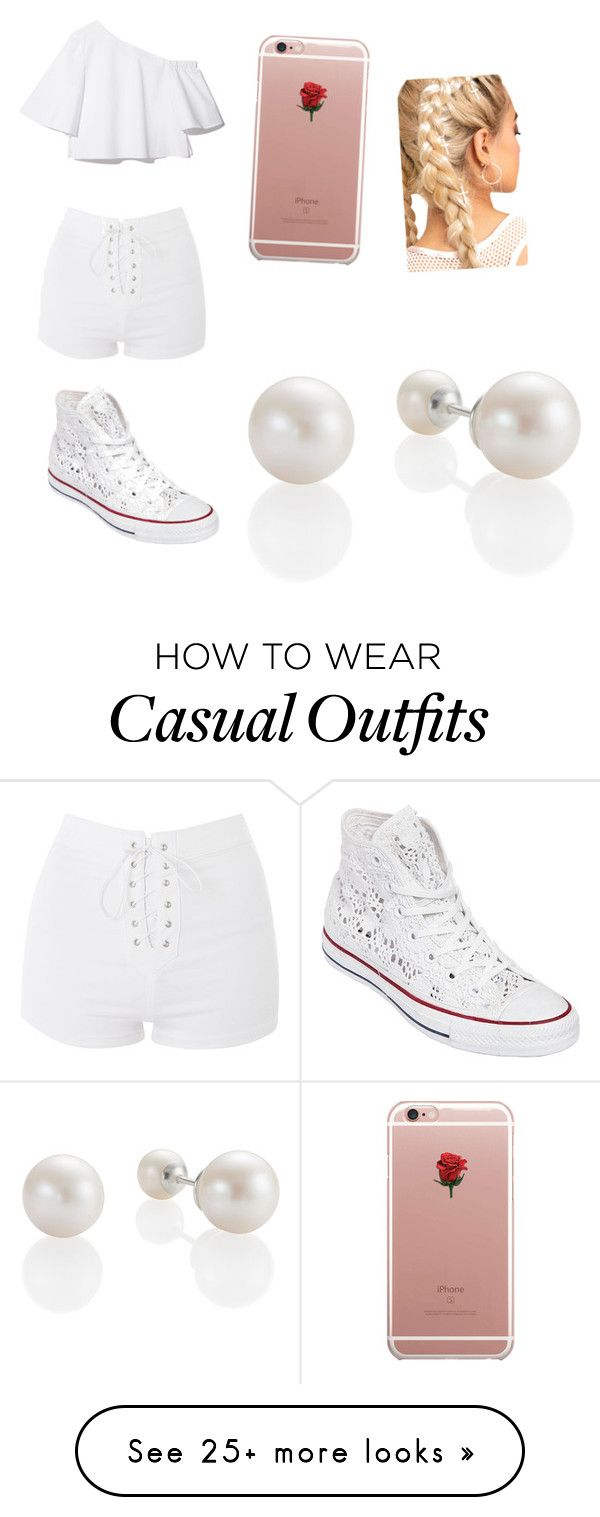 """""""summer casual"""" by niyahfinley on Polyvore featuring Topshop, Converse and ETUÍ"""