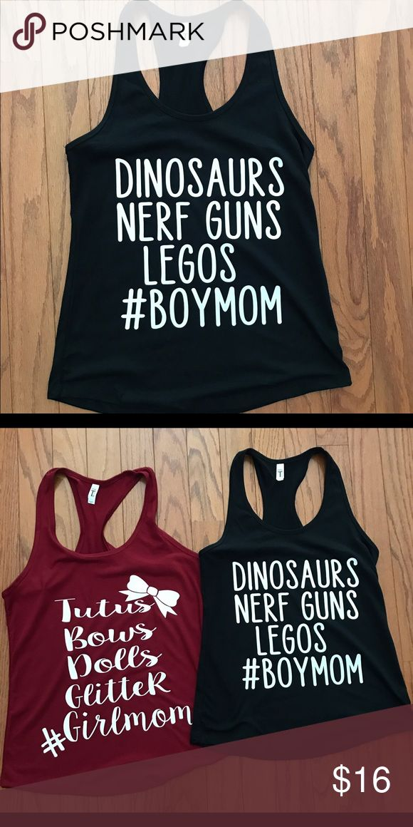 Boykin Boymom#momlife, can make on any style shirt , unisex t shirts $3 less then tanks or fitted shirts. I only order shirts in weekly so based on size and style it may take a week to ship. Just let me know what your wanting and I'll make it for you :) Tops Tank Tops