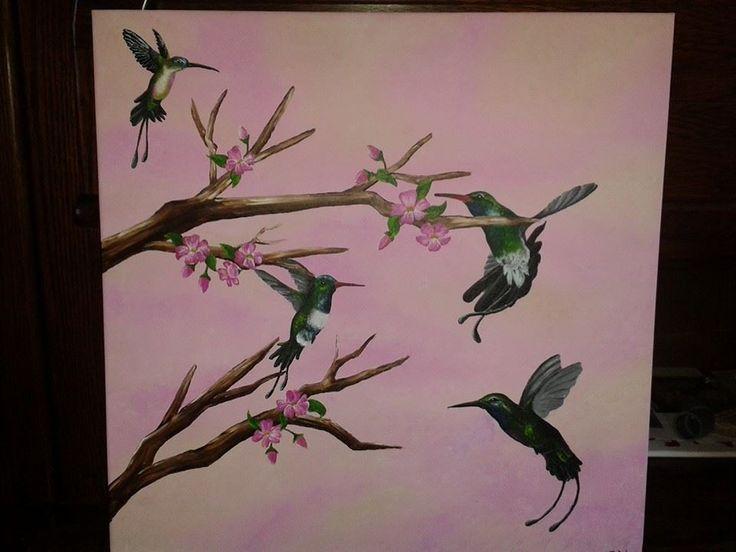 kolibrie met bloesem