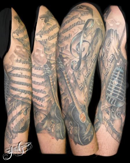 25 best ideas about music sleeve tattoos on pinterest nautical sleeve nautical tattoo sleeve. Black Bedroom Furniture Sets. Home Design Ideas