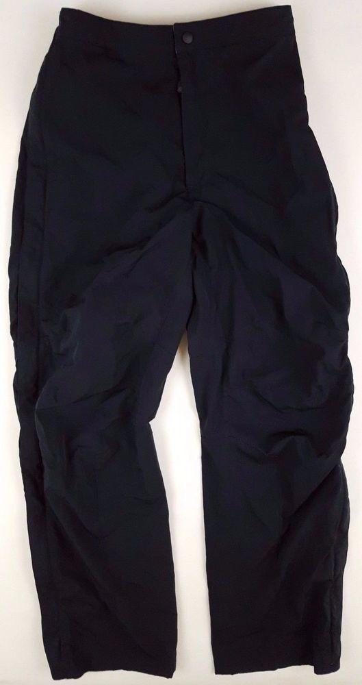 LL Bean OUTDOOR Pants MENS Small BLACK Polyester SIZE Sz FULL Zip SNAPS Man HIKE #LLBean #CasualPants