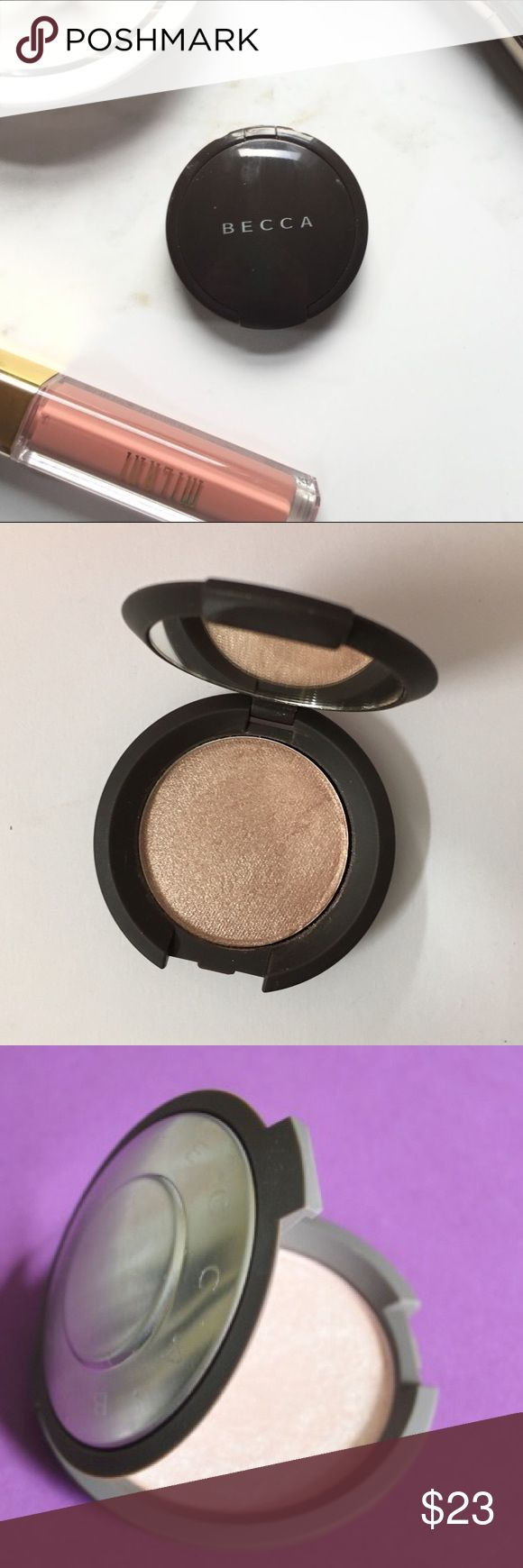 💯✨Becca Opal highlighter brand new ! W/ gift ✨ Becca cosmetics opal highlighter ! I love becca highlights it's my go to I use her liquid opal ! This is for the pressed powder .Get this new purse size highlighter for in the go women ! BECCA Makeup Luminizer