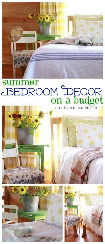 budget bedroom in a rustic log home creative cain cabin - How To Decorate A Bedroom On A Budget