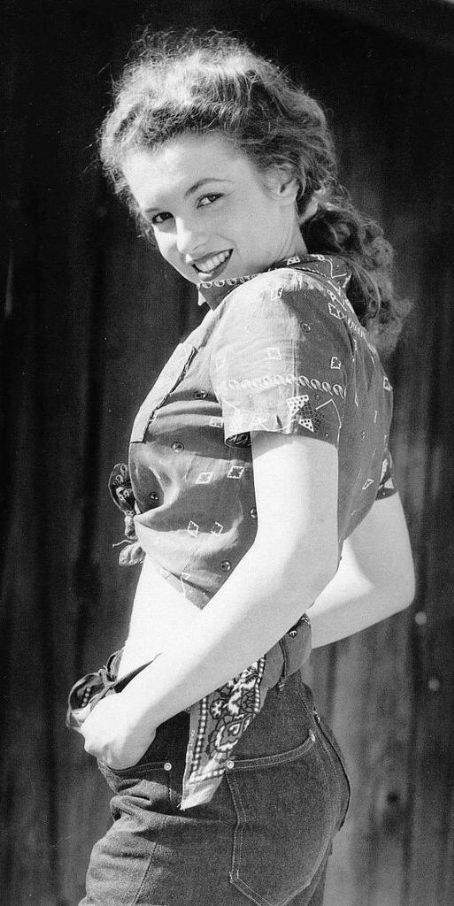 Norma Jeane, the factory worker before she was Marilyn Monroe.