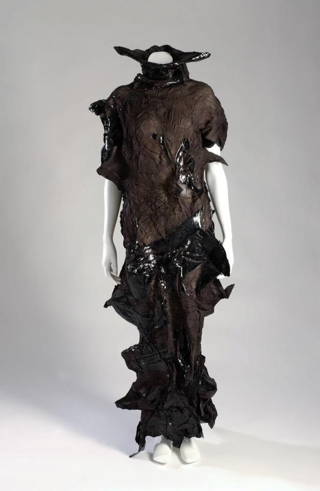 Yoshiki Hishinuma, dress, black sheer polyester/polyurethane, fall 1999-00, Japan, gift of Hishinuma Associates Co., Ltd.  © 2012 The Museum at FIT