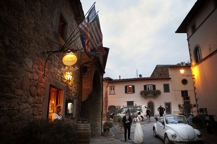 An Intimate dinner in Chianti after the Civil Ceremony
