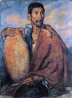 Saturnino Herran, Hombre con vasija, Mexico.