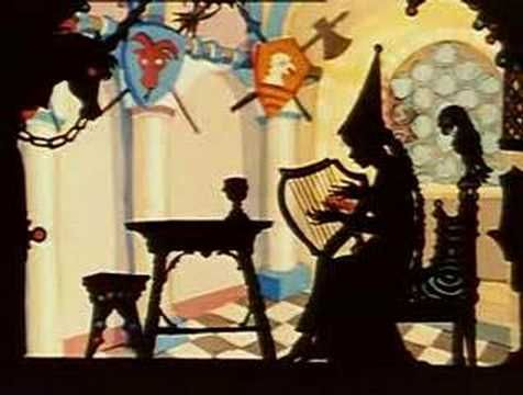 Jack and the Beanstalk shadow play video. If you go to the web page, you´ll see how to build one.