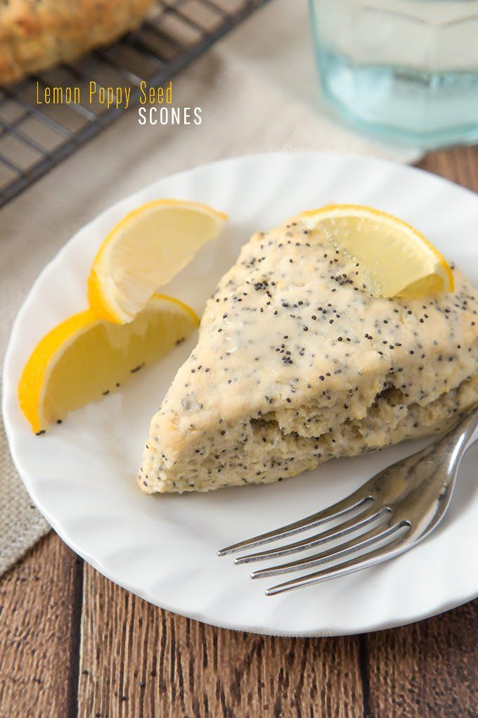 Lemon Poppy Seed scones are a cinch to make and are the perfect breakfast for a dull January morning!
