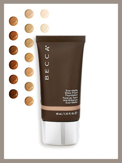 Becca Ever-Matte Shine Proof Foundation Number of shades: 20 Adorably packaged in a tiny tube, this liquid contains a microfine powder that helps extend its wear. Now if you find yourself in a Netflix-and-chill situation that turns out to involve actually watching Netflix, you'll be able to make it through most of this season's Orange Is the New Black without a single touch-up. Becca Ever-Matte Shine Proof Foundation, $42 (beccacosmetics.com). Photo illustration: Jeremy Allen/Allure; cou...