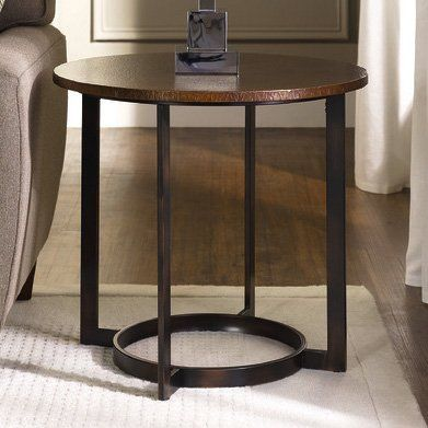 hammary t206323500 nueva round end table - Side Tables For Living Room