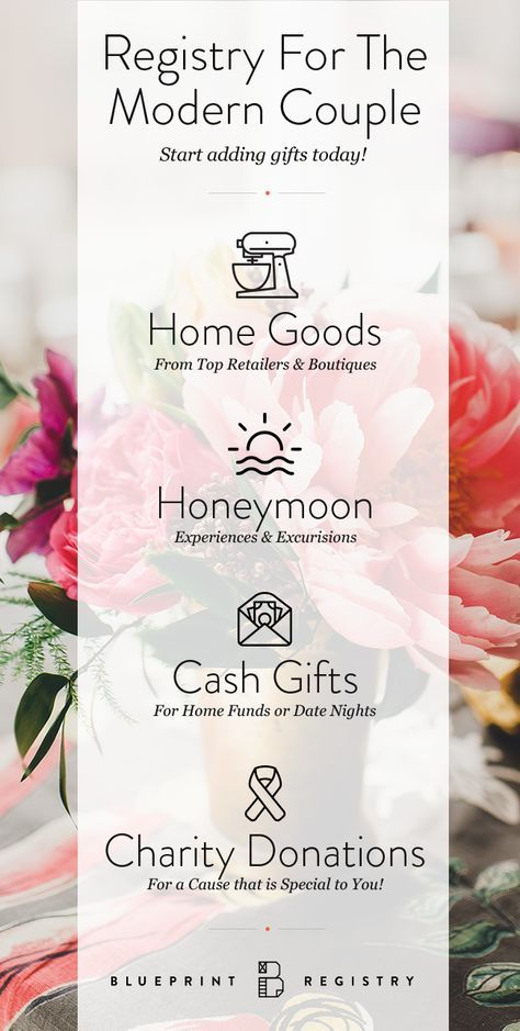 49 best registry images on pinterest wedding gift registry manage all your registries in a single place at blueprint registry register for everything from malvernweather Choice Image