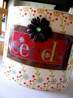 Repurposed kleenex boxOrganic Tips, Iheart Organic, Budget Organic, Seeds Packets, Features Spaces, Tissue Boxes, Paper Boxes, Kleenex Boxes, Garages Storage