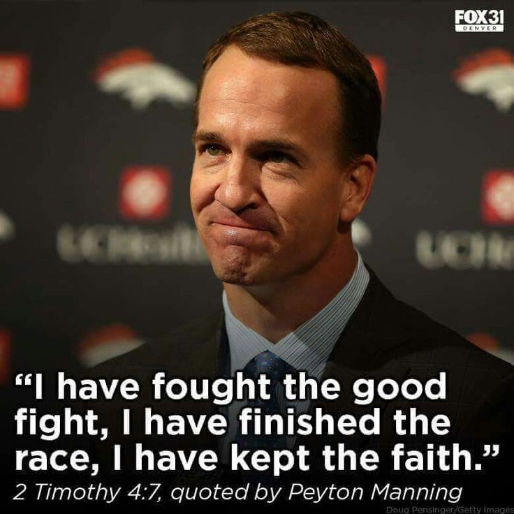Peyton Manning, congrats to him for finally retiring! And, he went out with a win!